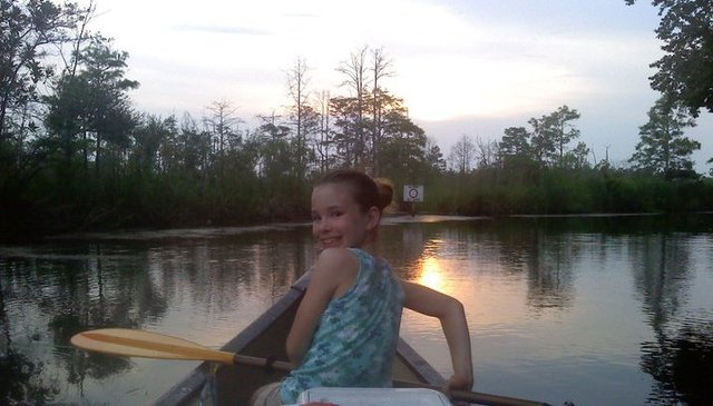Our first time canoeing