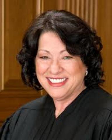First Hispanic SCOTUS judge - Sonya Sotomayor