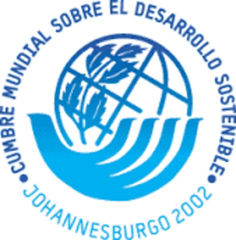 Cumbre Mundial de Desarrollo Sostenible en Johannesburgo, Sudáfrica.