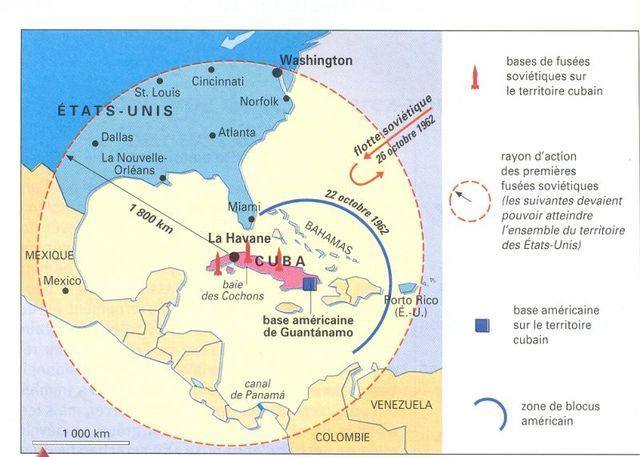 Début de la crise de Cuba ( 16 au 28 octobre 1962)