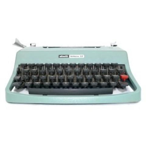 La máquina de escribir manual