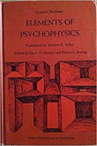Elements of Psychophysics
