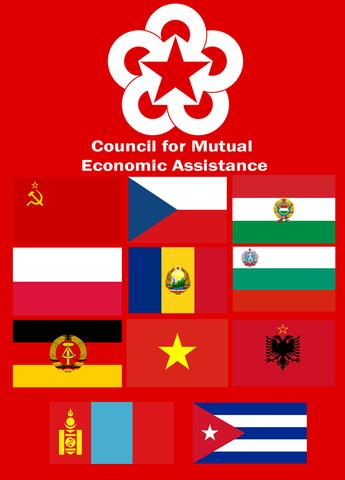 COMECON - Consejo de Asistencia Económica Mutua.