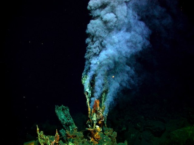 Deep sea hydrothermal vents and associated life around them are discovered.