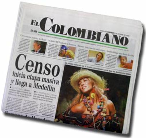 Fundación periódico el colombiano