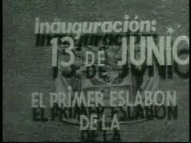 Primer transmisión de la televisión en colombia