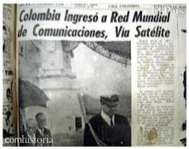 Televisión colombiana por satélite