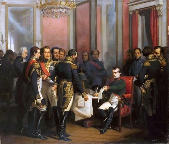 Наполеон отрекается от престола, и Италия распадается на небольшие королевства