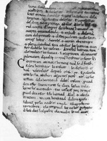 Primers textos antics escrits en llengüa catalana.