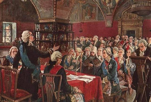Первое заседание Комиссии по составлению нового Уложения в Москве