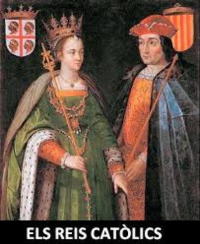 Unió de les cases reials de Castella i Aragó.