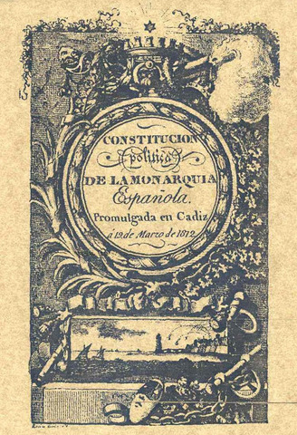 Constitució espanyola, elaborada a les Corts de Cadis,de caire liberal