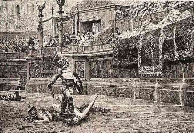 5. Otho starts the gladiatorial games again.