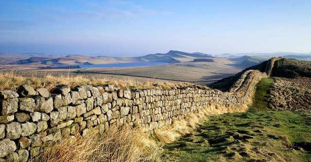 Construction starts on Hadrian's Wall in northern Britain, which marks the northern boundary of the Roman Empire.