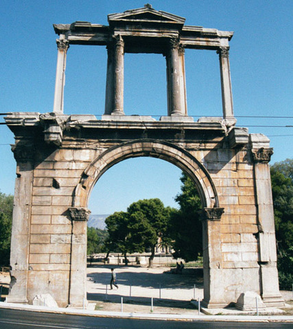Arch of Hadrian Constructed.