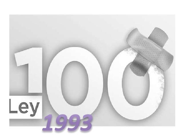 Ley 100 de 1993 y  Decreto  Ley 1295 de 1994