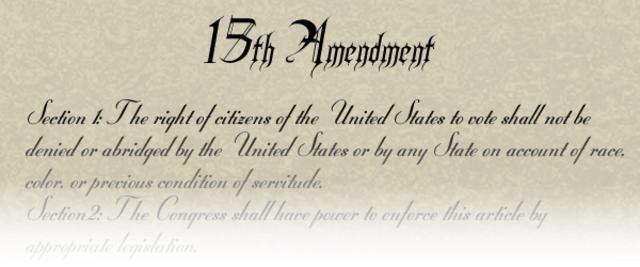 Passage of the 15th Amendment