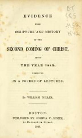 Publication of Miller's Book