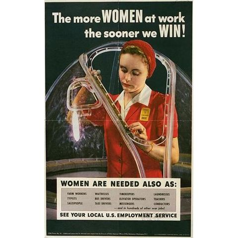 Advertisements and Campaigns Recruited Women Workers