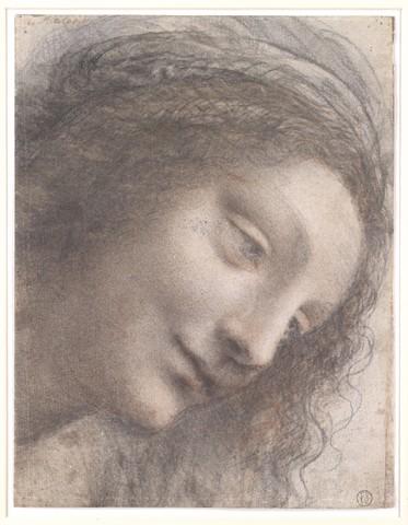 LEONARD DE VINCI « étude pour la tête de la vierge»