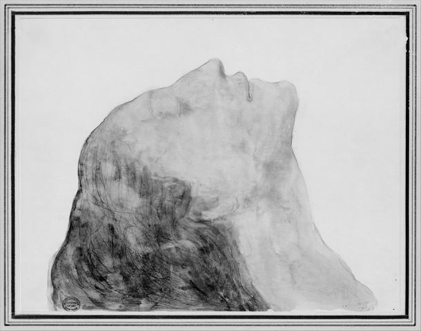 KAHLIL GIBRAN «vers l'infini (portrait de la mère de l'artiste) »