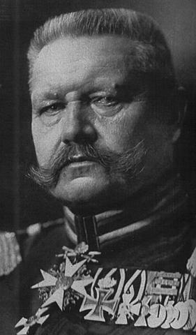German President Hindenburg dies.