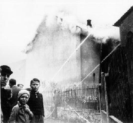 Kristallnacht - The Night of Broken Glass.