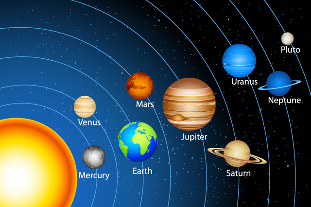 ás 0:00 h formouse o sistema solar