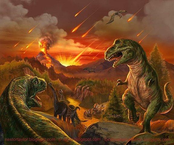 desapareceron os dinosauros.