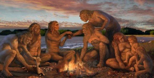 ás 23:59 h e 46 segundos apareceu o Homo sapiens.
