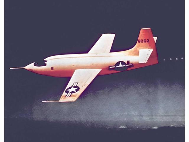 First Plane to Break Sound Barrier