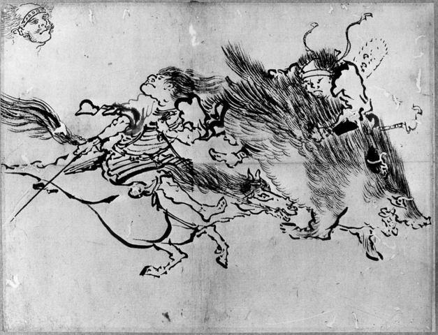 KATSUSHIKA HOKUSAI «Deux personnages»