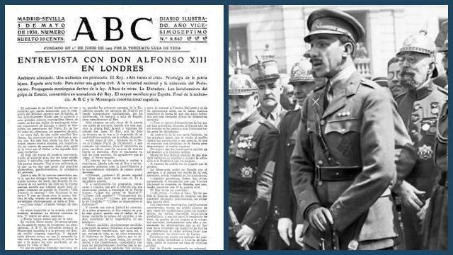Abdicación del Rey Alfonso XIII
