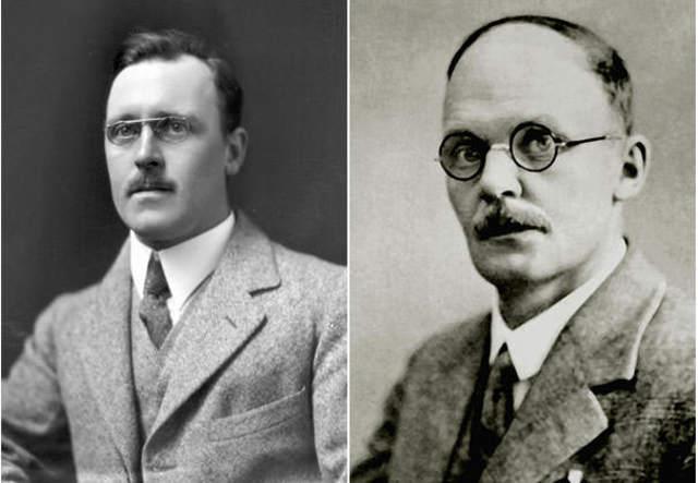 Hans Geiger y Ernest Marsden