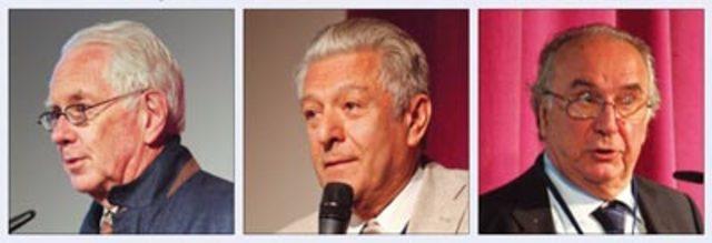 Sheldon Glashow, John Iliopoulos, y Luciano Maiani