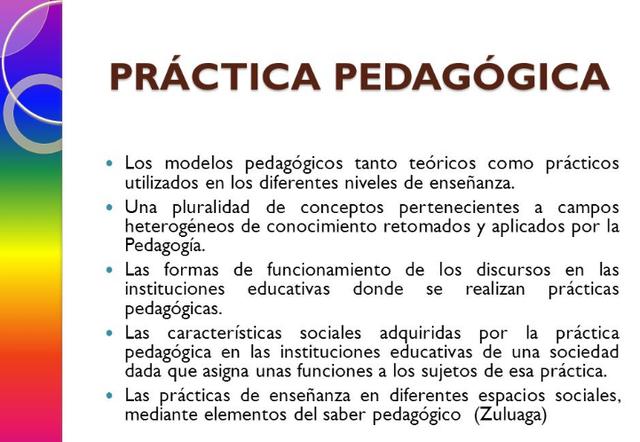 Aprendizaje y práctica pedagógica