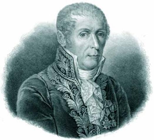 Se le acredita a Alessandro Volta la creacion de la primera pila electrica