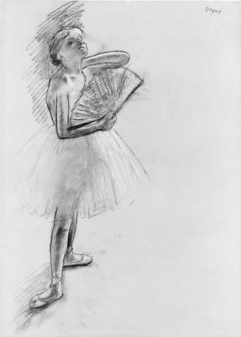 EDGAR DEGAS « Danseuse à l'éventail »