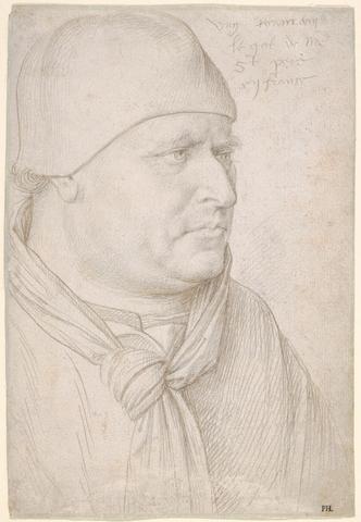 JEAN FOUQUET «Portrait d'un ecclésiastique»