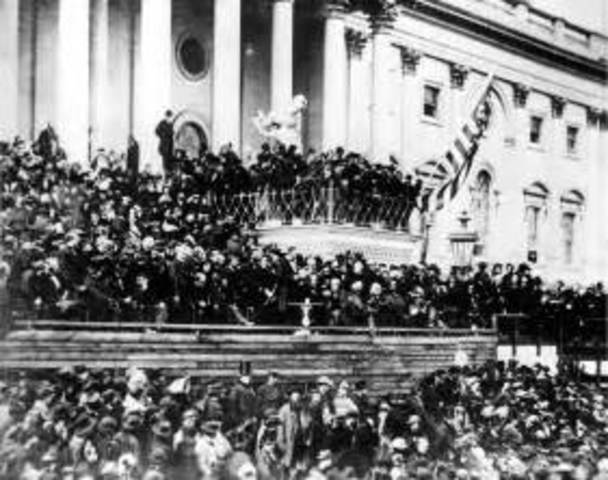 Abraham is inaugurated president of the United States.
