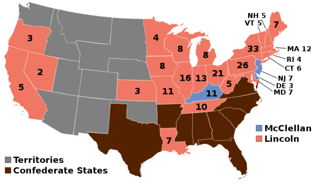 Abraham Lincoln wins the 1864 election