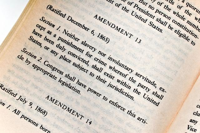 Republicans pas the 13th  Amendment