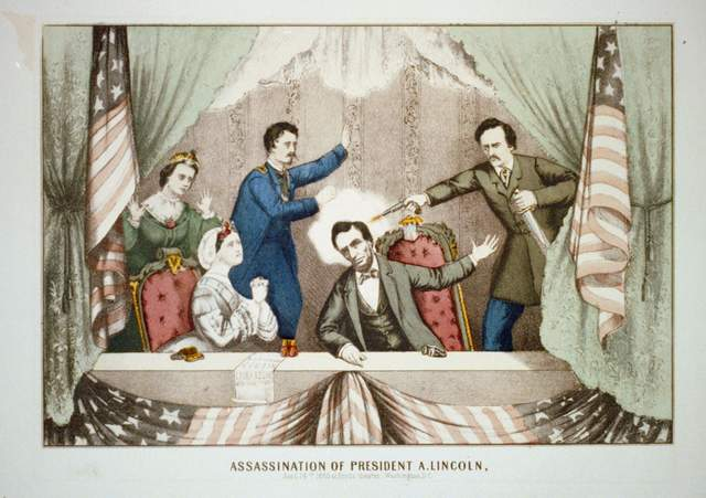 Abraham Lincoln is assasinated creating sympathy for Republicans gaining the more seats in the House and Senate