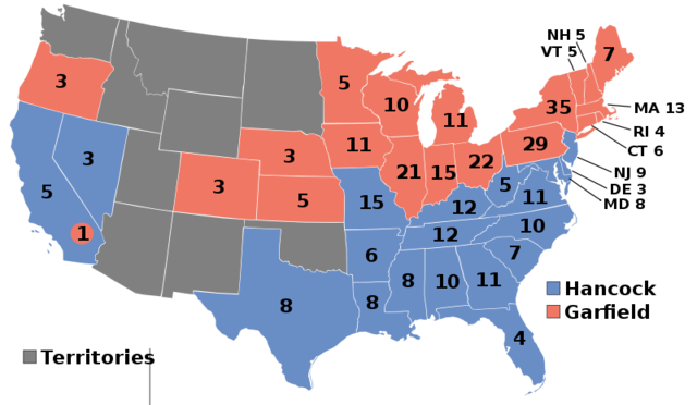 James A Garfield elected President