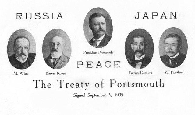 Roosevelt negotiates the Treaty of Portsmouth