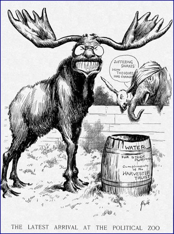 Election of 1912: Roosevelt and Taft split the Republican Party