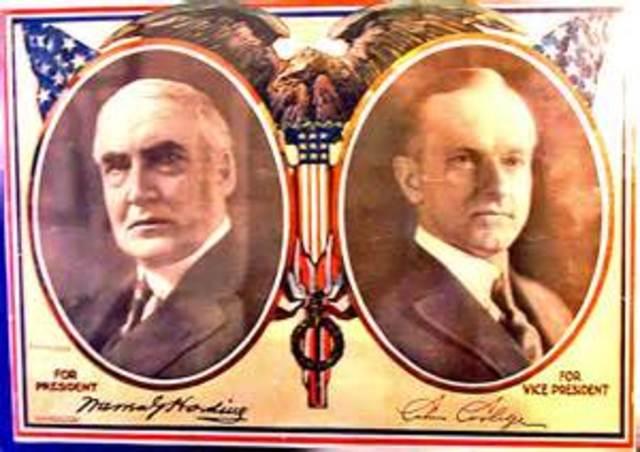 Republicans run on a Conservative ticket after World War 1
