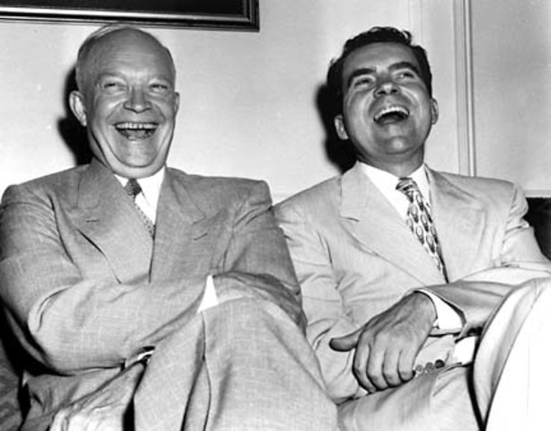 Eisenhower and Nixon start dominate elections in 1952 and 1956