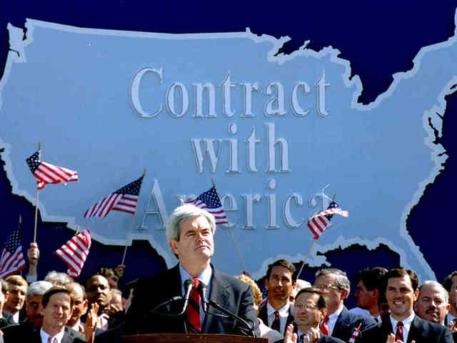Republicans make contract with America.