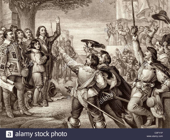 Civil War begins as Charles I raises his standard at Nottingham